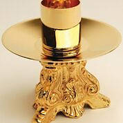 """Picture of Koleys K841 24K Gold Plated 3 1/4"""" Candlestick"""