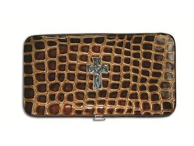 Brown Croc Embossed Wallet