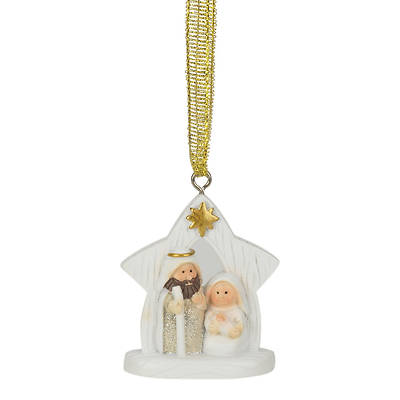 Picture of Glitter Holy Family in Creche Ornament