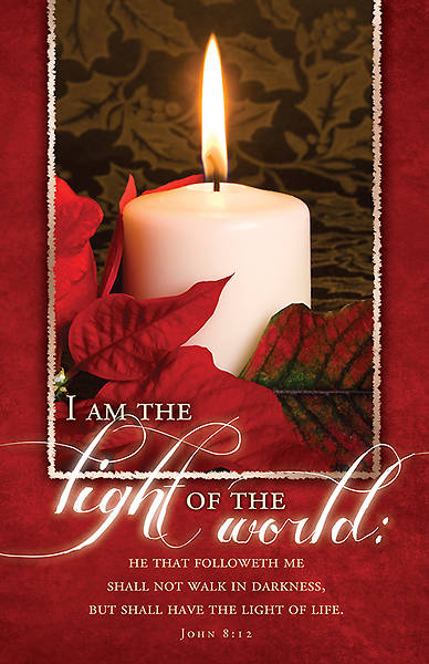Light of the World Christmas Bulletin John 8:12 KJV Regular (Package of 100)