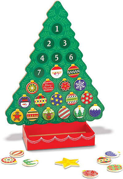 Picture of Melissa & Doug Countdown to Christmas Wooden Advent Calendar - Magnetic Tree, 25 Magnets
