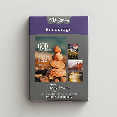Picture of Tony Evans -  Encouragement Boxed Cards Assorted (Box 12)