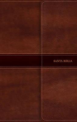 Picture of Rvr 1960 Biblia Ultrafina, Marrn Smil Piel Con ndice y Solapa Con Imn