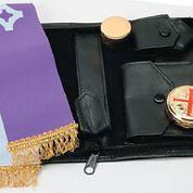 "Picture of Koleys K3002SET 10 Host Cap Genuine Leather Viaticum Set Zipper 4 1/2"" x 7"""