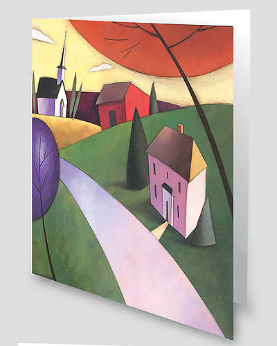 Countryside Church Scene Greeting Cards