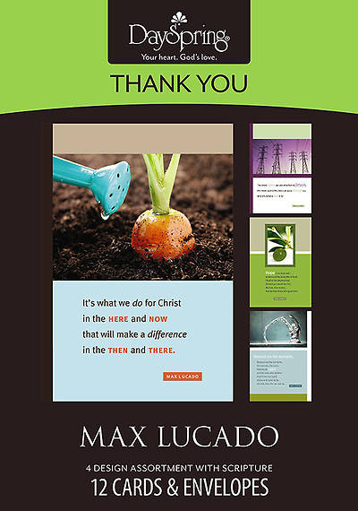 Max Lucado - Thank You Boxed Cards - Box of 12
