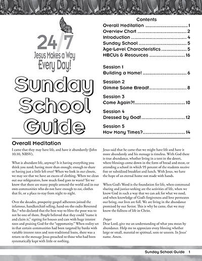 Vacation Bible School (VBS) 2018 24/7 Sunday School Guide