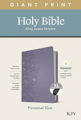 Picture of KJV Personal Size Giant Print Bible, Filament Enabled Edition (Leatherlike, Peony Lavender, Indexed)