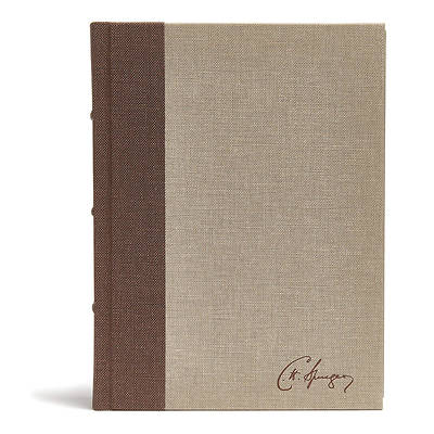 Picture of CSB Spurgeon Study Bible, Brown/Tan Cloth Over Board