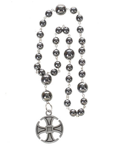 Anglican Prayer Beads with Canterbury Cross