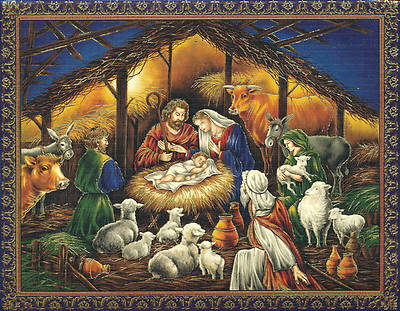 Holy Family Nativity Christmas Boxed Card (Pk 18)