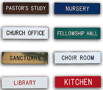 Picture of Products Alco Custom Engraved Plastic Signs