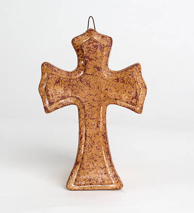 Picture of Handcrafted Pottery Cross - CR1