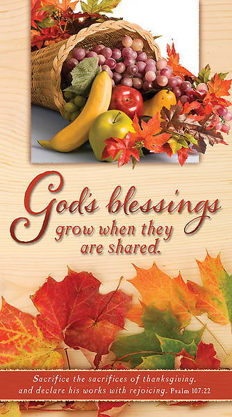 Thanksgiving Offering Envelopes Gods Blessings (Package of 100)