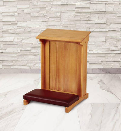 Picture of Abbey Collection Padded Kneeler - Medium Oak Stain