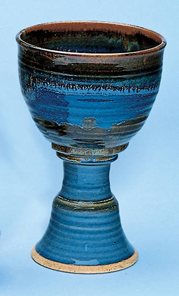 Picture of Earthenware Chalice, Dark  Blue
