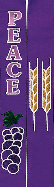 "Celebration Purple Peace 100"" Stole"