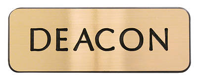 Contemporary Engraved Gold Deacon BadgeMagnet Pin