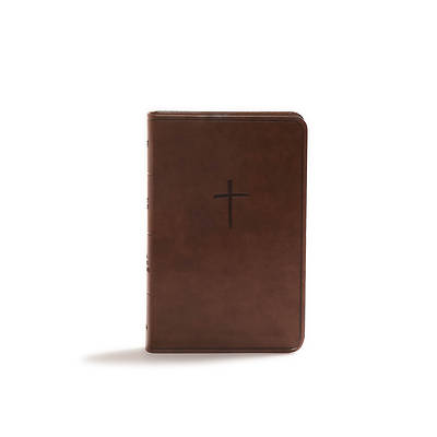 CSB Compact Bible, Brown Leathertouch, Value Edition