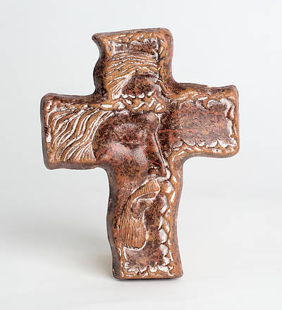Handcrafted Pottery Cross