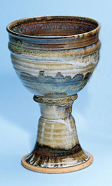 Earthenware Chalice, Brown