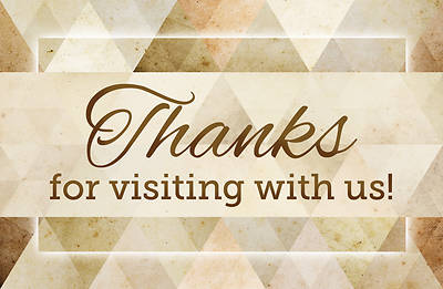 Picture of Thanks for Visiting With Us Follow Up Postcard