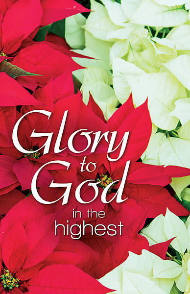 Picture of Glory to God Poinsettias Christmas Regular Size Bulletin