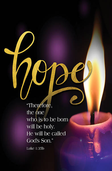 Picture of Hope God's Son Advent Candle Sunday 1 Bulletin (Pkg of 50)