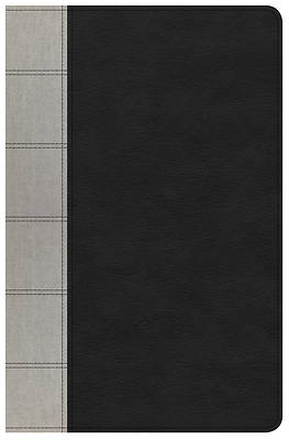 Picture of NKJV Large Print Personal Size Reference Bible, Black/Gray Deluxe Leathertouch, Indexed
