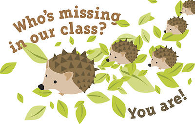 Whos Missing In Our Class? - Postcard - Pkg 25