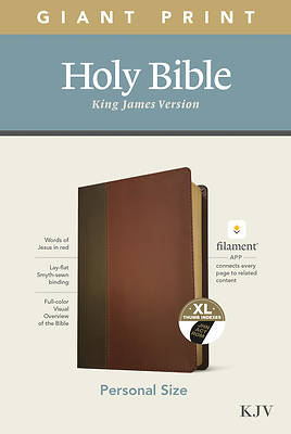 Picture of KJV Personal Size Giant Print Bible, Filament Enabled Edition (Leatherlike, Brown/Mahogany, Indexed)