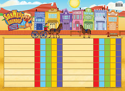 Gospel Light Vacation Bible School 2013 SonWest RoundUp Attendance Chart