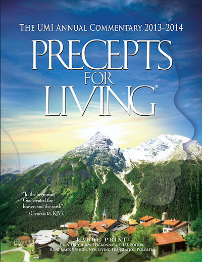 UMI Precepts for Living Large Print Commentary Year 2013-2014