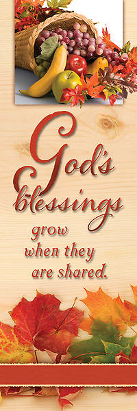 Thanksgiving Bookmark Gods Blessings (Package of 25)