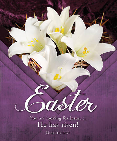 Picture of He Has Risen Easter Legal Size Bulletin
