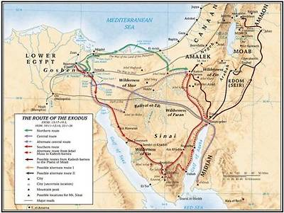 Picture of The Route of the Exodus Map