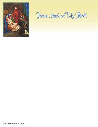 Christmas Traditional Nativity Letterhead (Package of 100)