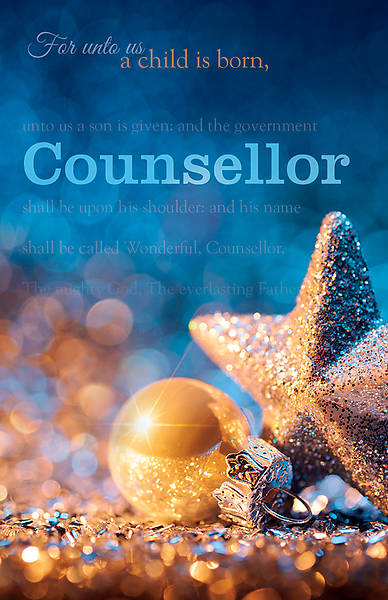 Shall Be Called Counsellor Christmas Legal Size Bulletin