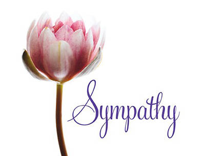 Church Letter of Sympathy Cards-KJV (package of 12)