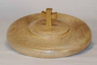Communion Bread Plate Cover Wood
