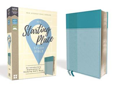 Picture of NIV, Starting Place Study Bible, Leathersoft, Blue, Comfort Print