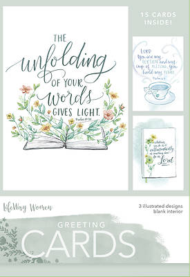 Boxed Greeting Cards- Unfolding of Your Word