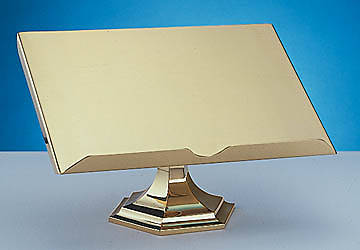 Bible Stand , 3-Step Hexagonal Brass Base