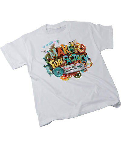 Vacation Bible School (VBS) 2017 Maker Fun Factory Theme T-shirt,  Adult (Med 38-40)