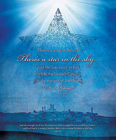 Star in the Sky Christmas Bulletin Luke 2:7 KJV Large (Package of 100)