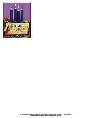 Advent Purple Letterhead 2011 (Package of 50)
