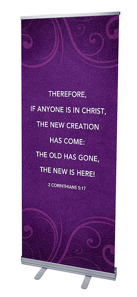 Picture of Flourish 2 Cor 5:17 RollUp Banner with Stand