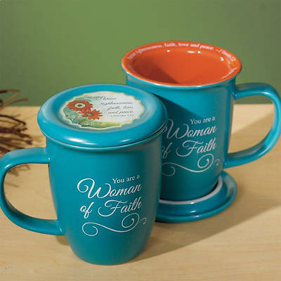 Picture of Woman of Faith Mug and Coaster Set
