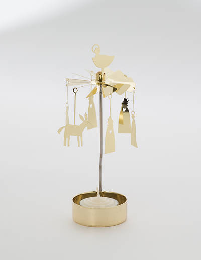 Nativity Rotary Candleholder with Candle