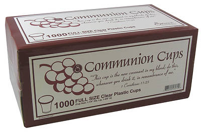Clear Plastic Disposable Communion Cup (Box of 1000)